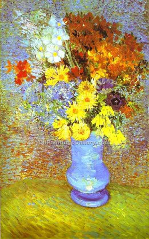 """Vase with Daisies and Anemones"" by  Vincent Van Gogh"