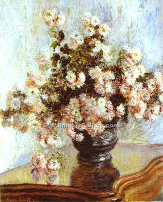 """Vase with Flowers 88"" by  Claude Monet"