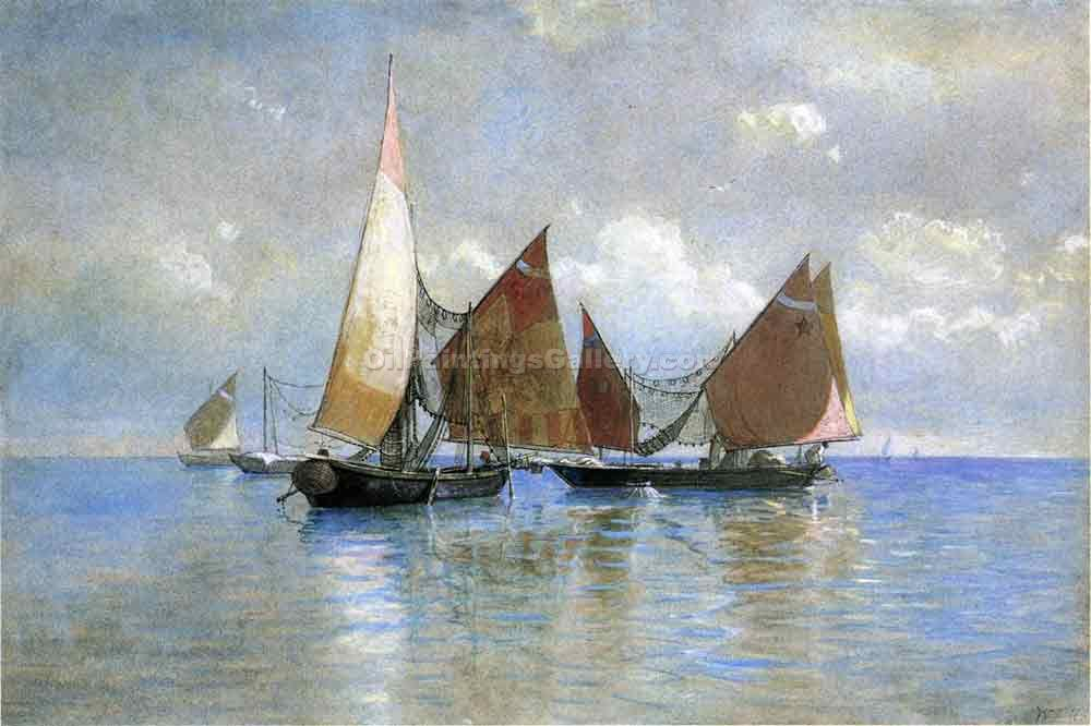 """Venetian Fishing Boats"" by  William Stanley Haseltine"