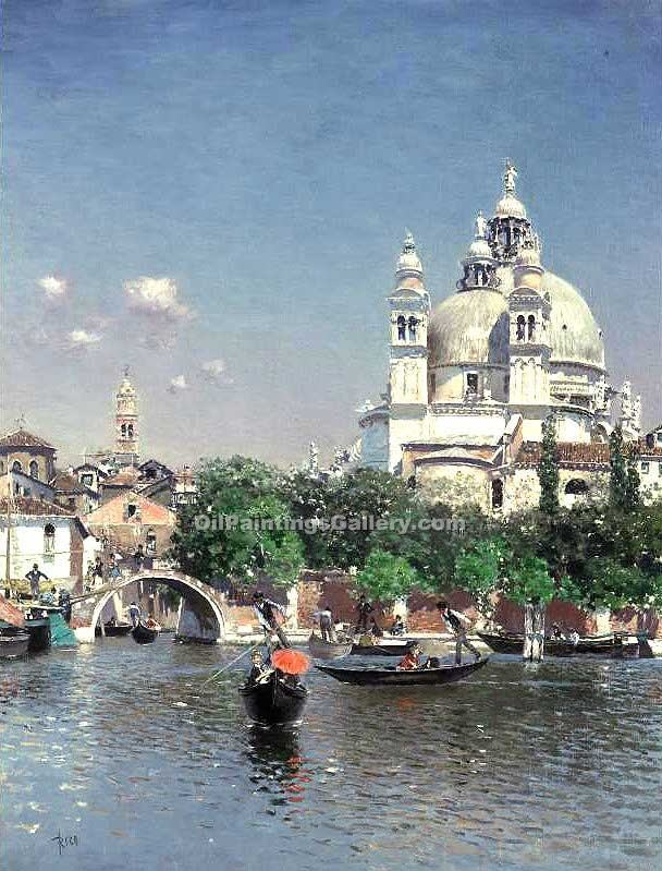 """Venetian Lagoon the Church of St. Maria della Salute"" by  Martin Rico Ortega"