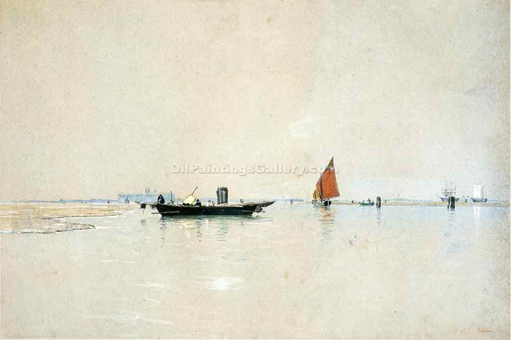 """Venetian Lagoon"" by  William Stanley Haseltine"