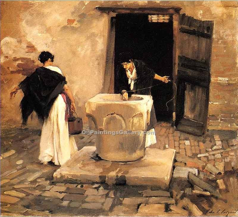 """Venetian Water Carriers"" by  John Singer Sargent"