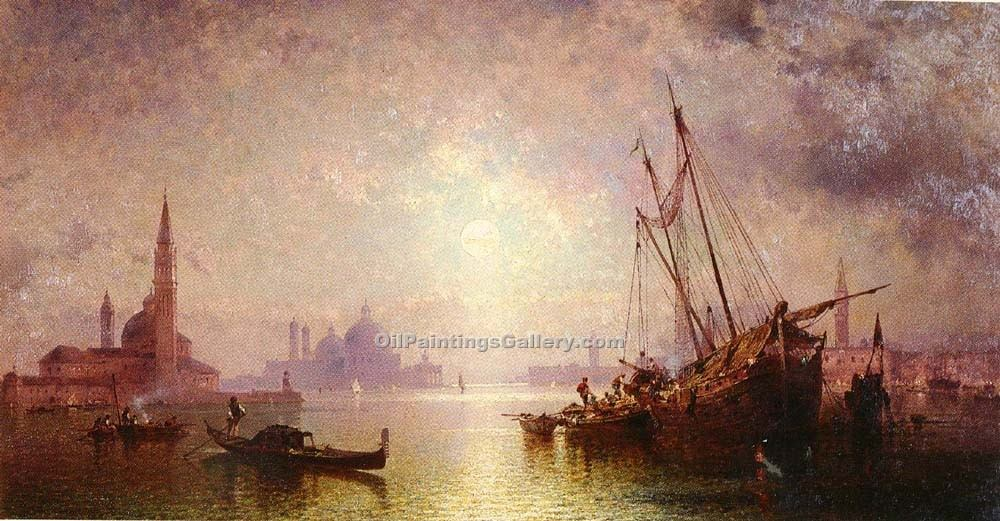 Venice 44 by Franz Richard Unterberger | Art Paintings For Sale - Oil Paintings Gallery