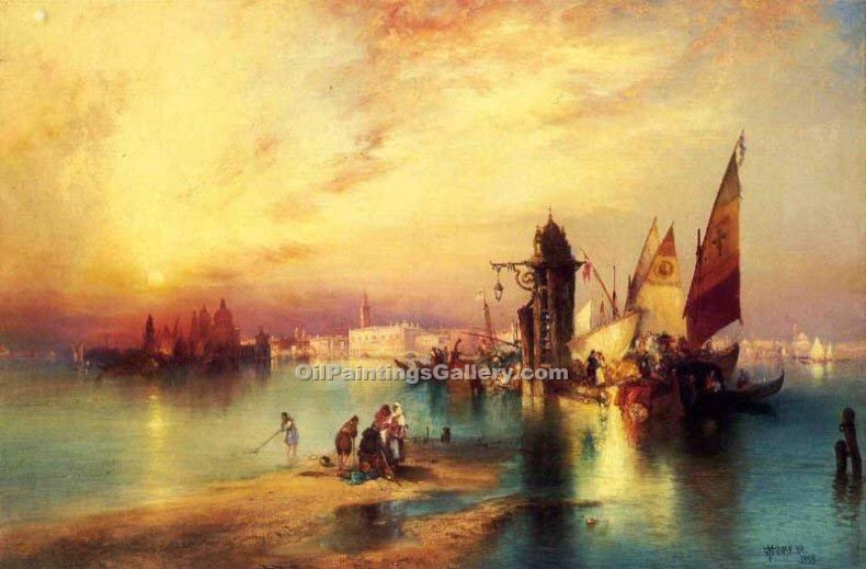 Venice 61 by Thomas Moran | Contemporary Abstract Artists - Oil Paintings Gallery