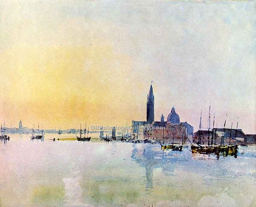 """Venice San Guirgio from the Dogana Sunrise"" by  William Turner"