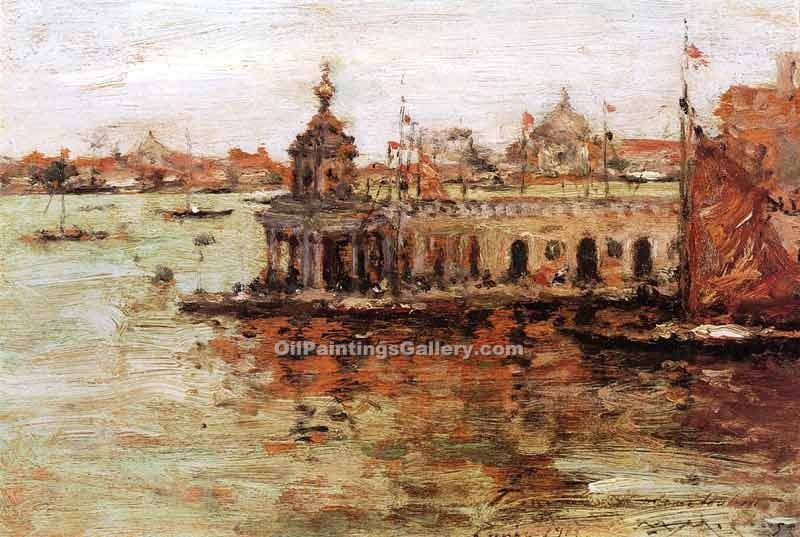 """Venice View of the Navy Arsenal"" by  William Merritt Chase"