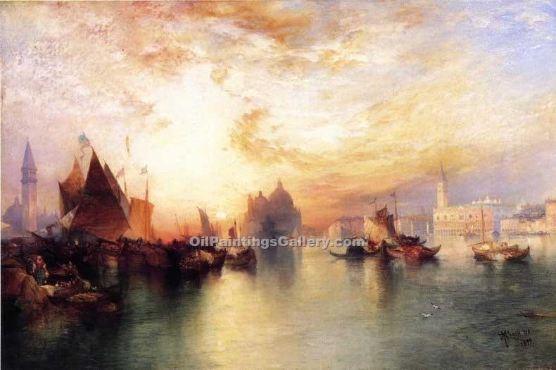 """Venice from near San Giorgio"" by  Thomas Moran"
