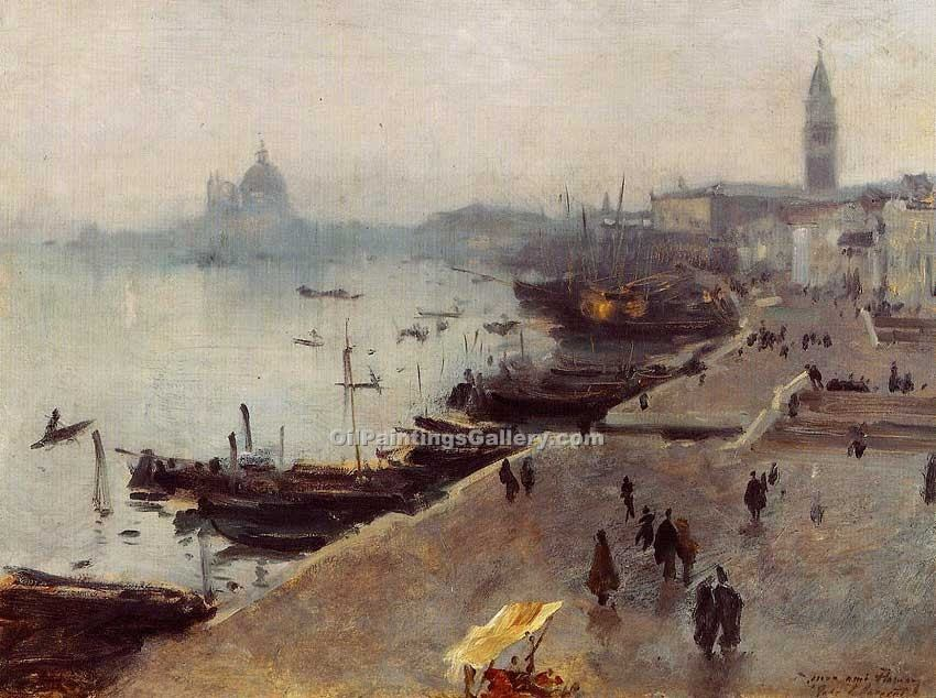 """Venice in Gray Weather"" by  John Singer Sargent"