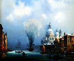 Venice in the Snow by  Ippolito Caffi (Painting ID: CI-0335-KA)