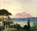 View Over the Bay from Palermo by  Oswald Achenbach (Painting ID: LA-2268-KA)