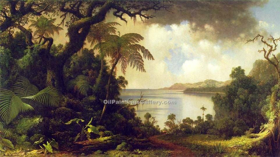 """View from Fern Tree Walk, Jamaica"" by  Martin Johnson Heade"