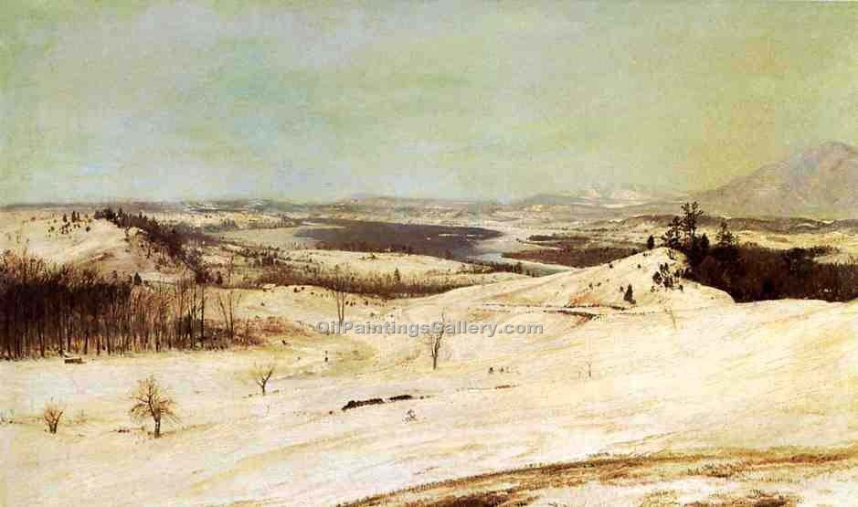 """View from Olana in the Snow"" by  Frederic Edwin Church"