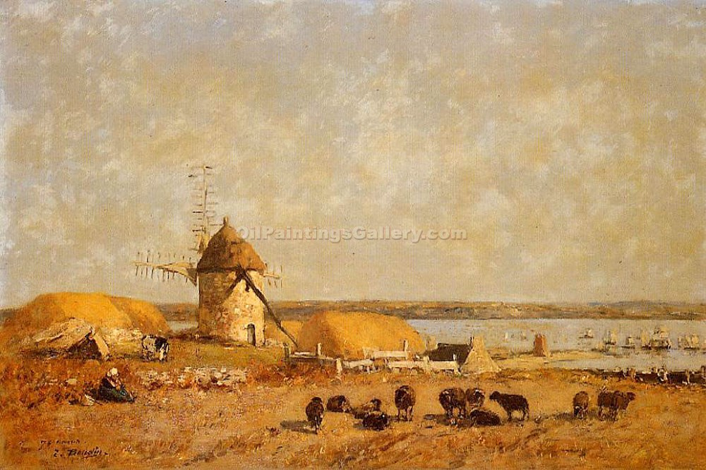 """View from the Camaret Heights"" by  Eugene Louis Boudin"