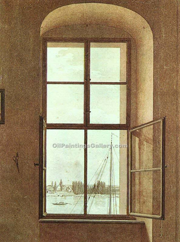 """View from the Painter s Studio"" by  Caspar David Friedrich"