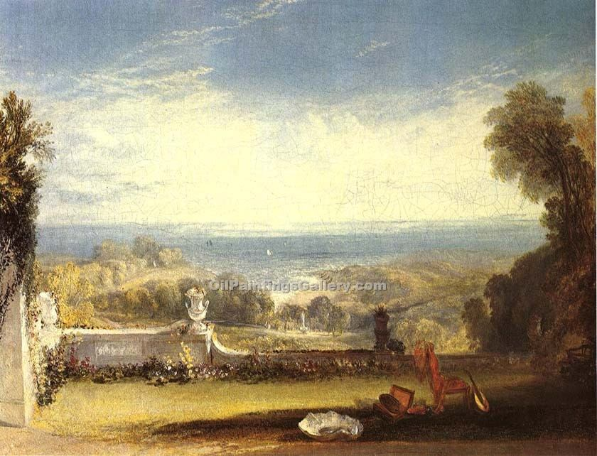 """View from the Terrace of a Villa at Niton Isle"" by  William Turner"