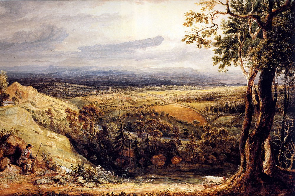"""View in Somersetshire from Fitzhead"" by  James Ward"
