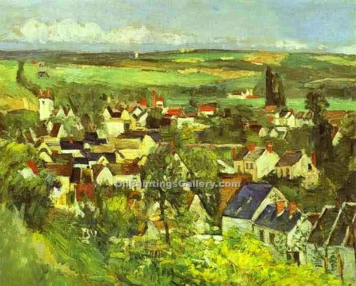 """View of Auvers"" by  Paul Cezanne"