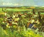 View of Auvers by  Paul Cezanne (Painting ID: MO-1486-KA)