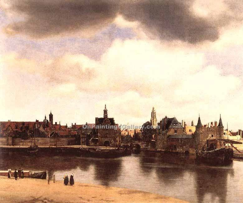 """View of Delft"" by  Jan Vermeer"