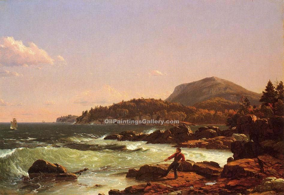 """View of Newport Mountain Mount Desert"" by  Frederic Edwin Church"