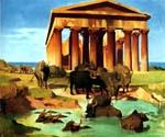 View of Paestum by  Jean Leon Gerome (Painting ID: AN-1014-KA)
