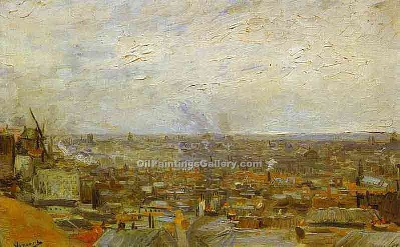 """View of Paris from Mountmartre"" by  Vincent Van Gogh"