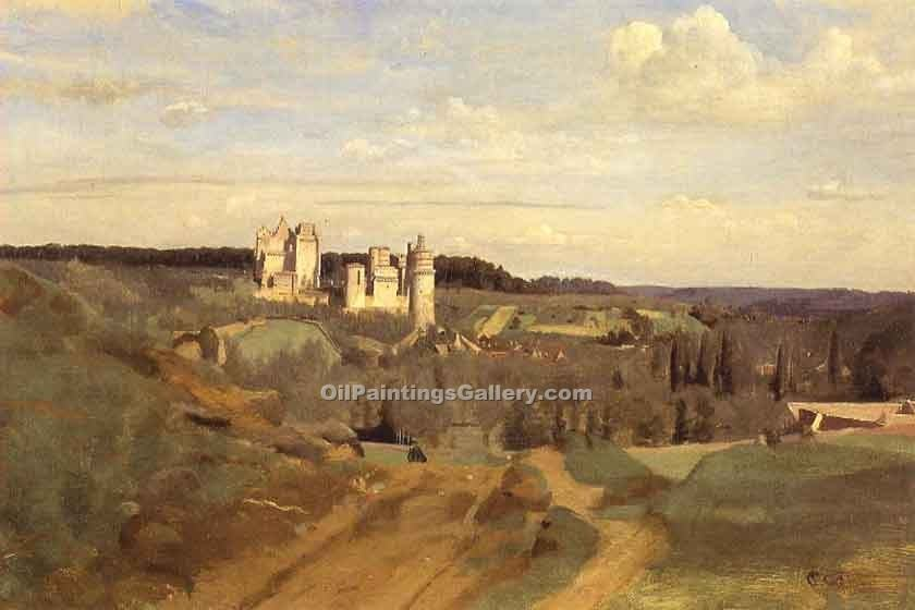 """View of Pierrefonds"" by  Jean Baptiste Corot"