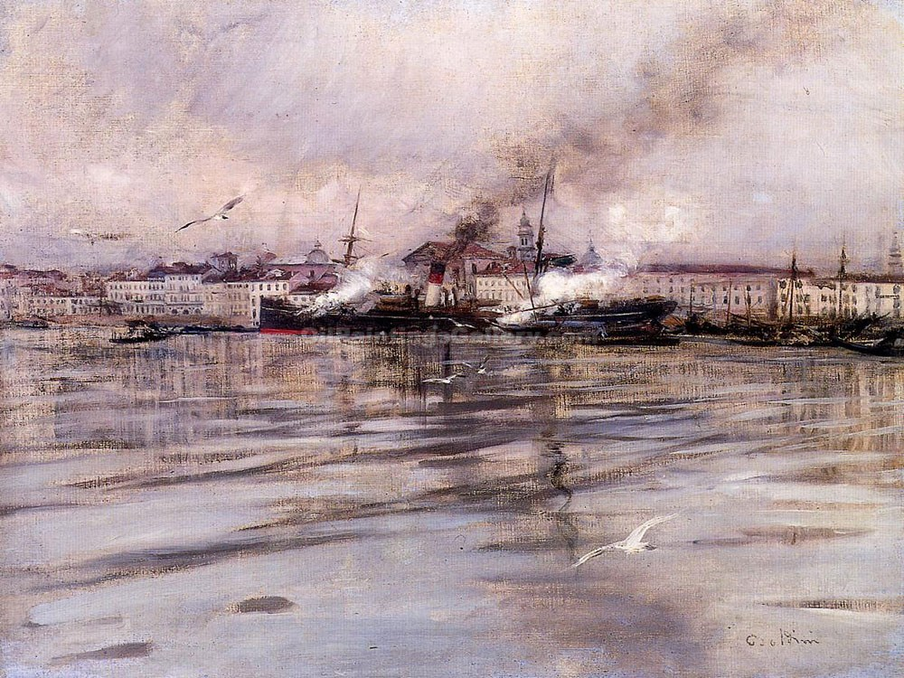 """View of Venice 33"" by  Giovanni Boldini"