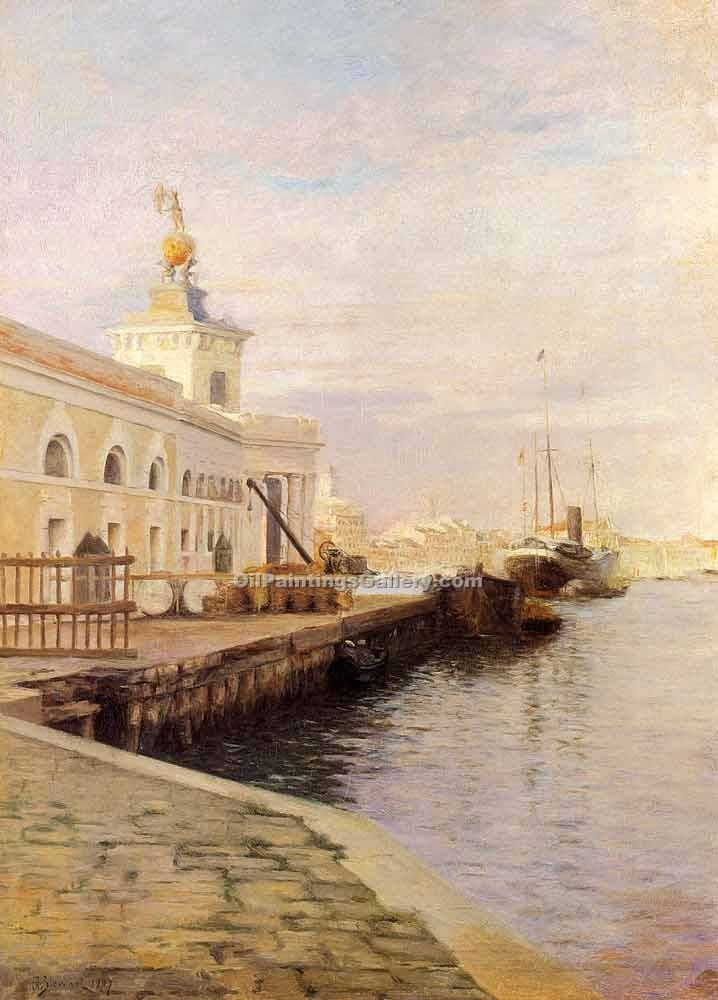 """View of Venice 43"" by  Julius Stewart"