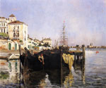 View of Venice 50 by  John Twachtman (Painting ID: CI-0150-KA)