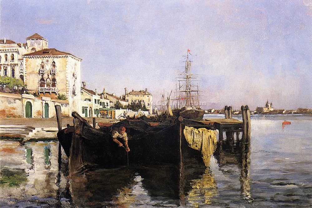 """View of Venice 50"" by  John Twachtman"