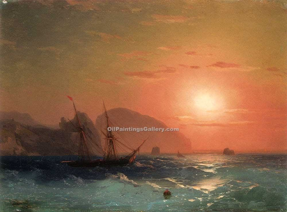"""View of the Ayu Dag Crimea"" by  Ivan Aivazovsky"