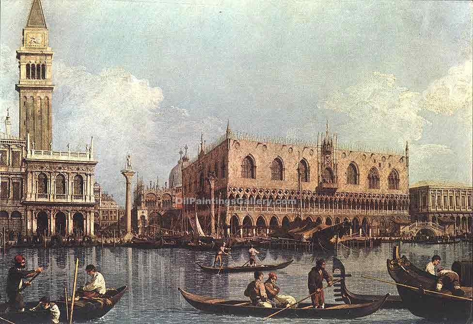 View of the Bacino di San Marco by Antonio Canaletto | Modern Painting Gallery - Oil Paintings Gallery