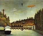 View of the Bridge Sevres by  Henri Rousseau (Painting ID: RO-0114-KA)