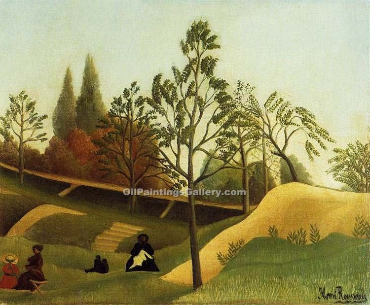 """View of the Fortifications"" by  Henri Rousseau"