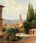 View of the Palazzo Vecchio in Florence by  Antonietta Brandeis (Painting ID: CI-0119-KA)