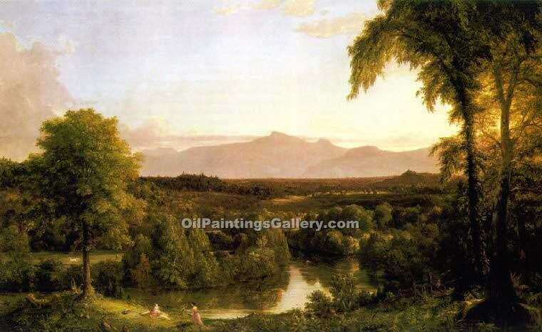 """View on the Catskill Early Autumn"" by  Thomas Cole"