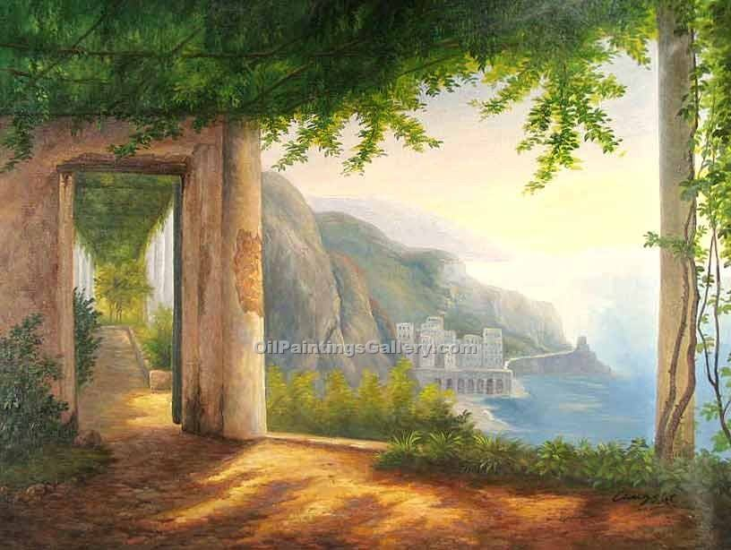 """View to the Amalfi Coast"" by  Carl Frederic Aagaard"
