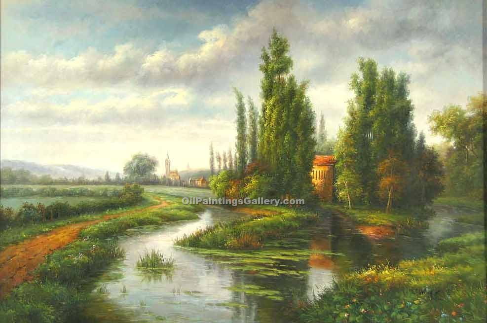 """Village by the Stream"""