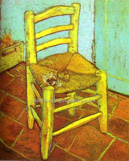 """Vincent s Chair with Pipe"" by  Vincent Van Gogh"