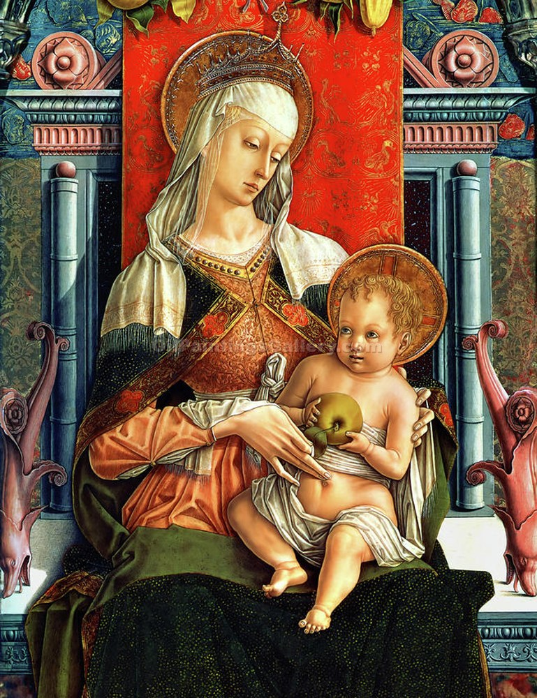 """Virgin Mary and Child"" by  Carlo Crivelli"