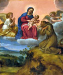 Virgin and Child Adored by Saint Francis 87 by  Francesco Albani (Painting ID: DA-0087-KA)