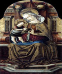 Virgin and Child Enthroned 13 by  Carlo Crivelli (Painting ID: DA-0313-KA)