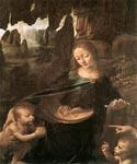 Virgin of the Rocks (detail) by  Leonardo Da Vinci (Painting ID: DV-2123-KA)