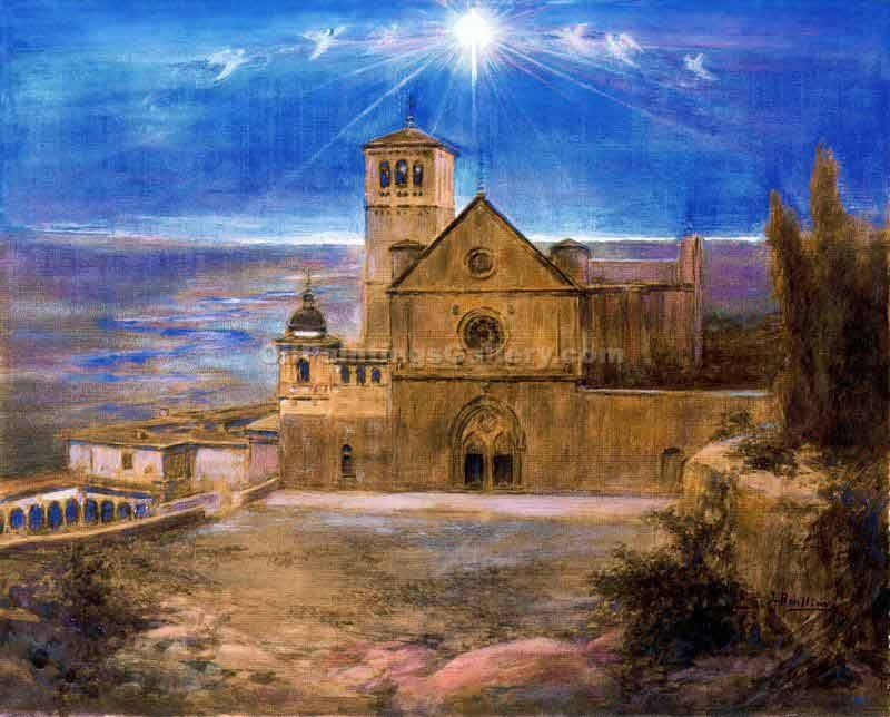 """Vista de la Iglesia de As"" by  Jose Benlliurey Gil"
