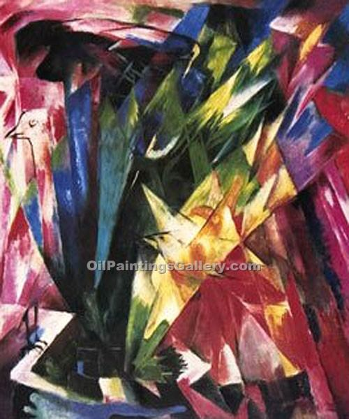 """Vogel"" by  Franz Marc"