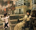 Waiting for the Ferry by  James Tissot (Painting ID: CL-4281-KA)