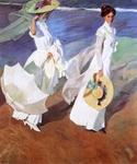 Walk on the Beach by  Bastida Joaquin Sorolla (Painting ID: CL-0738-KA)