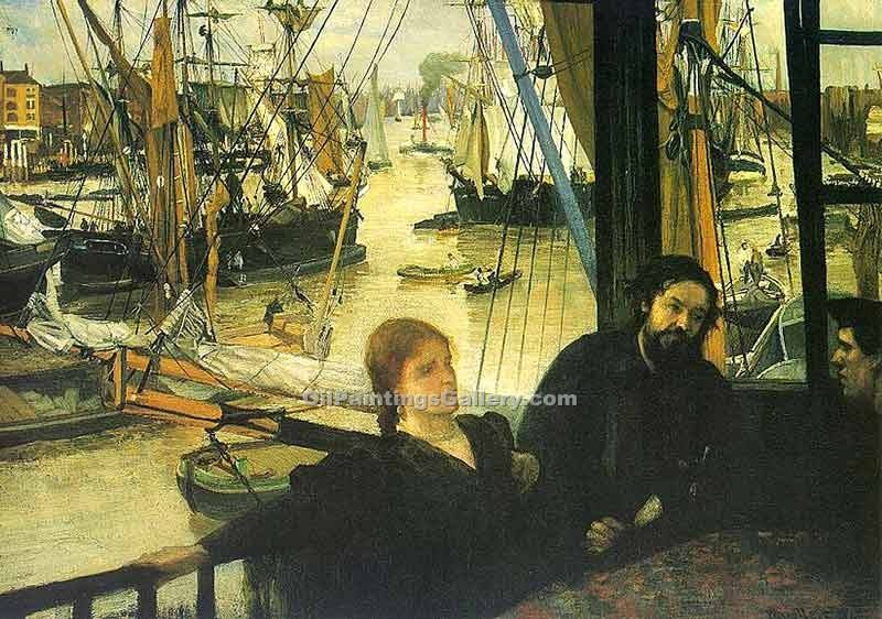 """Wapping on Thames"" by  James McNeill  Whistler"