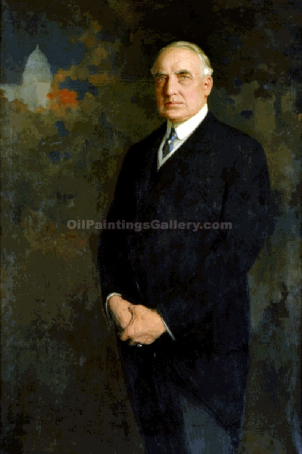 """Warren G. Harding, 29th President, Painted by Edmund Hodgson Smart"""